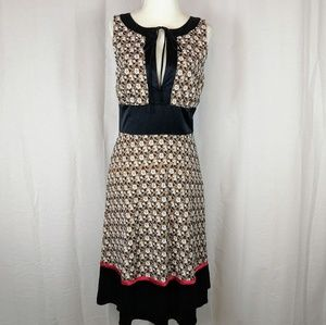 Tocca Floral Embroidered Silk Dress Size 4 EUC